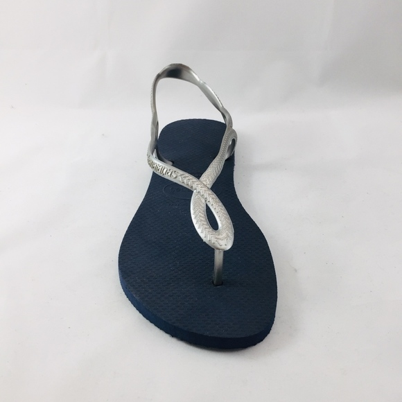 3d1a3697f Havaianas Shoes - Havaianas Thongs - Navy and Silver. New!